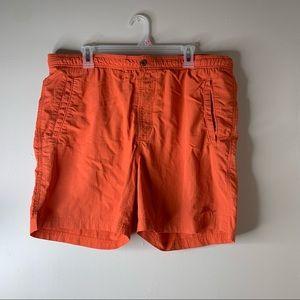 TOMMY BAHAMA Men's Orange Swim Trunks